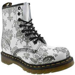 Female Dr Martens 1460 W Leather Upper Casual in White and Black