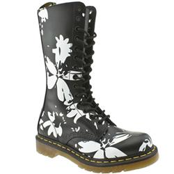 Female Dr Martens Bloom Leather Upper Casual in Black and White