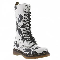 Female Dr Martens Bloom Leather Upper Casual in White and Black