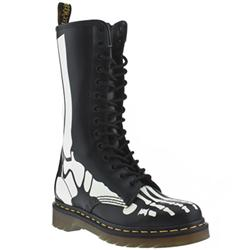 Female Dr Martens Bones Leather Upper Casual in Black and White