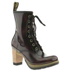 Female Dr Martens Darcie Leather Upper Casual in Burgundy