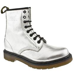 Female Dr Martens Greenland Leather Upper Casual in Silver