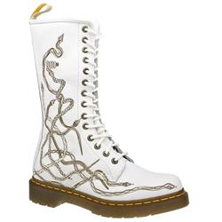 Female Dr Martens Laser Boot Leather Upper Casual in White