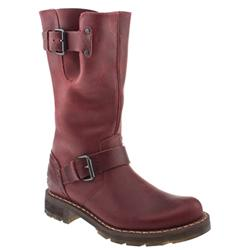 Female Dr Martens Onyx Biker Boot Leather Upper Casual in Burgundy