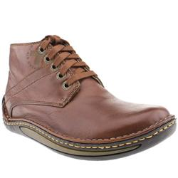 Male Dr Martens Declan Leather Upper Casual Boots in Tan