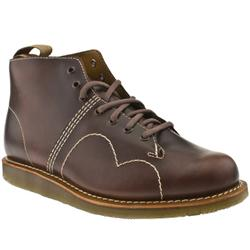 Male Dr Martens Philip Leather Upper Casual Boots in Dark Brown