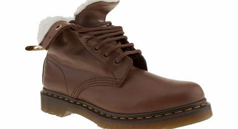 dr martens Tan Serena 8 Eye Boot Boots