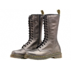Womens IV99 14 Eyelet Boot Black/Silver