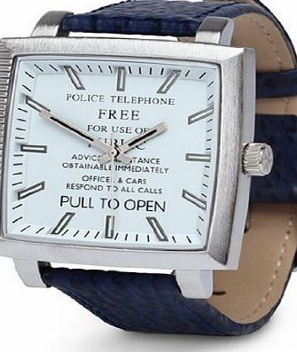 Dr Who Mens Quartz Analogue Display Watch with White Dial and Blue Plastic or PU Strap DR173