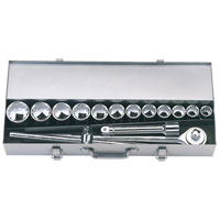 Draper 15 Piece 3/4andquot Square Drive Silverdrive Metric Socket Set product image