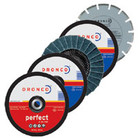 Dronco 115mm Angle Grinder 5 Disc Cutting - Grinding - Sanding Multipack