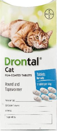 Drontal, 2102[^]0104015 Worming Tablets For Cats - 6 Tablets