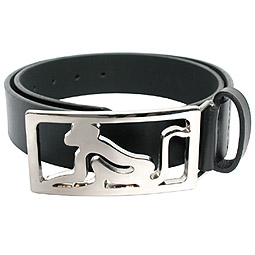 Designer buckle belt from Drunkn Munky. Large chro - CLICK FOR MORE INFORMATION
