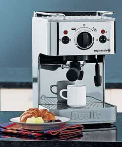 Dualit Espressivo Chrome Coffee Machine Coffee Maker - review, compare prices, buy online
