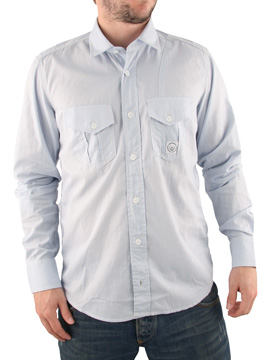 Duck and Cover Sky Blue Spencer Long Sleeved Shirt product image