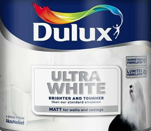Dulux Matt Emulsion Paint Ultra White 2.5L