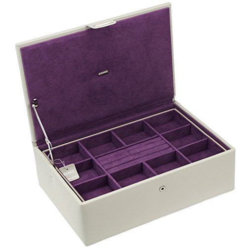 Dulwich Oslo Stone Leather Contemporary Jewellery box