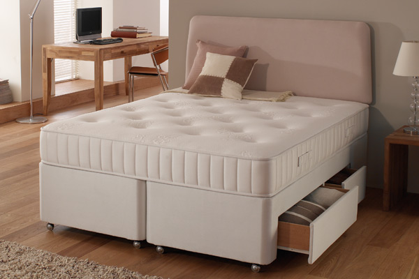 Dunlopillo double beds for Double divan bed no mattress