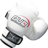 DUO GEAR 16oz WHITE DUO A/L Muay Thai Kickboxing Boxing Gloves