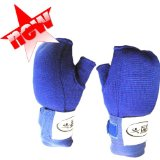 L BLUE PADDED Muay Thai Kickboxing Boxing Inner Gloves
