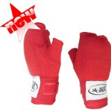 L RED PADDED Muay Thai Kickboxing Boxing Inner Gloves