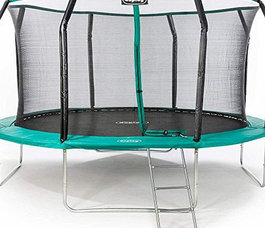 Duplay Ultimate 2.0 Upgraded 14ft Trampoline with Safety Net Enclosure, Ladder and Shoe Bag