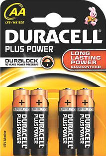 Duracell, 1228[^]54357 AA Batteries 4 Pack 54357