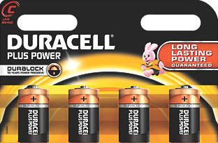 Duracell, 1228[^]23753 C Batteries 4 Pack 23753