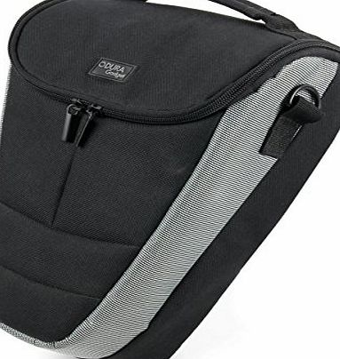 DURAGADGET Black And Grey Portable Hardwearing Digital SLR Camera Semi Soft Carry Case For Sony Alpha 450, Sony Alpha 390/DSLR-A390, Sony Alpha 550/DSLR-A550 amp; Sony Alpha 580/DSLR-A550, With Space