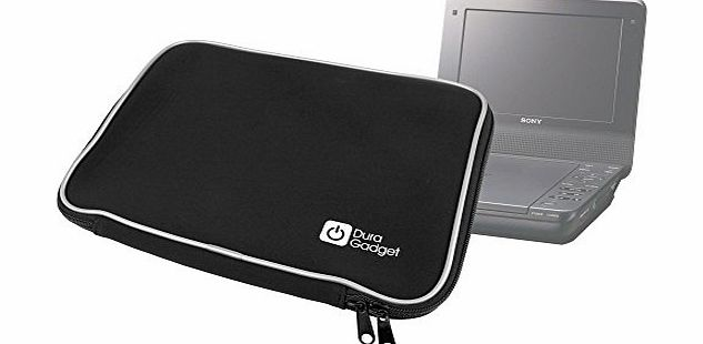 DURAGADGET Black Carry Case for Sony Portable DVD players DVP-FX720, DVP-FX730, DVP-FX820, DVP-FX875