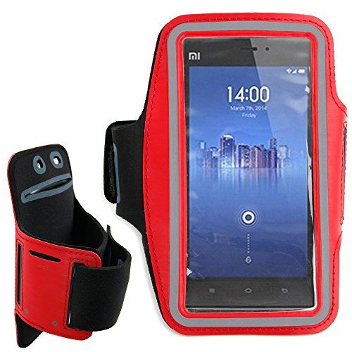 DURAGADGET Exclusive Unisex Sports Armband in Red - Running, Cycling & Gym Smartphone Case / Cover / Holder for the Xiaomi Gigabyte Mi3 / M3 / 3 / Gigabyte GSmart Mika M3 product image