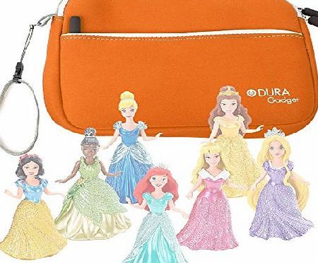 DURAGADGET Orange Neoprene Carry Case - Compatible with the Disney Princess Magiclip Collection - By DURAGADGET