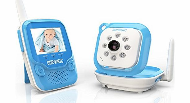 B101B Blue 2.4 GHz 250m Wireless Colour Digital Video amp; Sound Baby Monitor with Night Vision