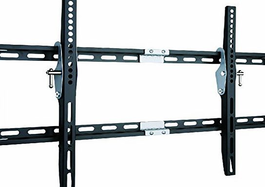 Duronic TVB777 Heavy Duty Adjustable Black Wall Bracket For Plasma, LCD, LED Screens For 33`` - 60`` Wide Screens With Tilt down. VESA 200X200, 400X400, 600X400