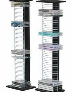 DVDACD Media Storage Tower Unit - Black and Chrome (887545922)