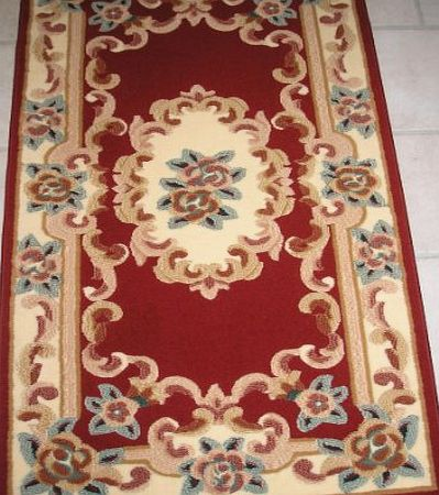 Dynasty OPPULENT RED RUG IN A TRADITIONAL CHINESE PATTERN DESIGN WITH CARVED RELIEF EFFECT (5FT x 8FT) product image
