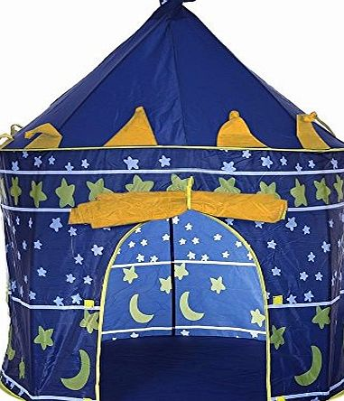 E Bargains UK LIVIVO ® Childrens Pop Up Castle Play Tent for Indoor or Outdoor in the Garden - The Ideal Kids Play House Den for your Little Witch or Wizard - Available in either Blue Prince Castle or Pink Princess