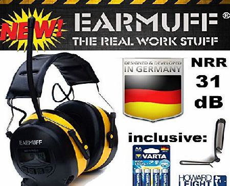 EAR-MUFF Ear Defender original ``EARMUFF`` Digital AM FM MP3 / Smart phone Radio HEADPHONES Hearing PROTECTOR Ear Muffs