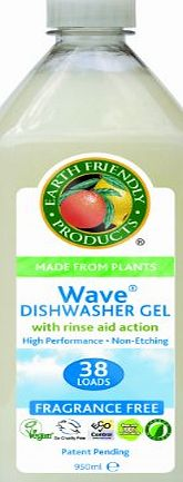 Earth Friendly Products Wave Dishwasher Gel with Rinse Aid Fragrance Free 950 ml (Pack of 2)