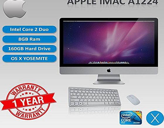EASYBUY APPLE IMAC A1224 CORE 2 DUO 2.0 - 2.4GHZ, 8GB RAM, 160GB HDD, 20`` SCREEN, OS X YOSEMITE sold and warranted by Easy buy (CRS-UK) Registered Trade Mark No.UK00003100631