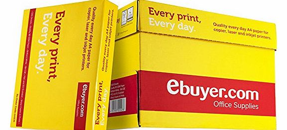 Ebuyer.com Everyday 80gsm A4 Printer Paper - 1 Box Containing 5 Reams of 500 sheets - 2500 pages total product image