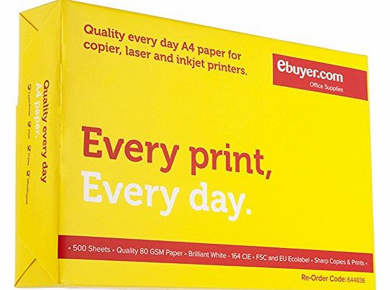 Everyday 80gsm A4 Printer Paper - 500 Sheets