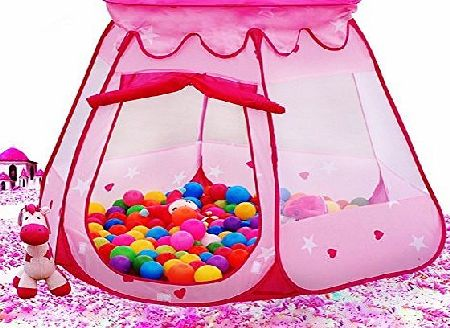 EchoAcc® Princess Tent Indoor and Outdoor 1 to 8 Years Old Children Game Play Toys Tent Balls Not Included (Pink)