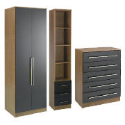 Eclipse bedroom furniture package, Black product image