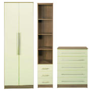 Eclipse bedroom furniture package, Cream product image