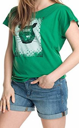 edc by Esprit  Womens Short Sleeve T-Shirt - Green - 8