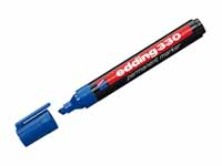 Edding 330 permanent chisel tip blue marker with product image