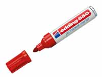 Edding 550 permanent red bullet tip marker pen, product image