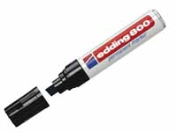 Edding 800 black ink large permanent chisel tip product image