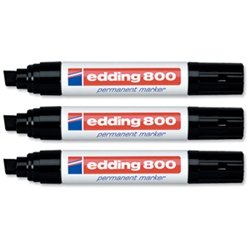 Edding 800 Permanent Marker Black 4-12mm Width product image